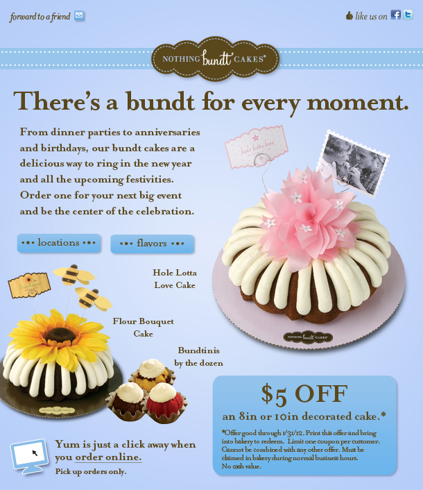 Nothing Bundt Cakes Coupon 2017