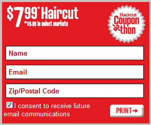 Coupons  Hair Cuts on Haircut Coupon A Thon    7 99 Haircuts With Coupon    20 Giveaway