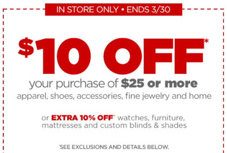 Jcpenney $10 coupon code 2018