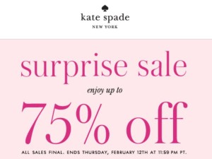 "Aug 02,  · Check out here to save big with latest bestnfil5d.ga "" 75 Off Hot Sale "" & ' Kate Spade Coupons "". You can also check out the best bestnfil5d.ga 75 Off Hot Sale & Coupons of April Kate Spade Coupon Code $50 Off $, Kate Spade Coupon Kate Spade Surprise Sale Kate Spade Discount Kate Spade Purses On Sale, Kate Spade."