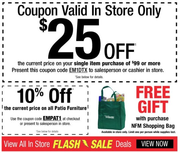 Nebraska furniture mart one day only in store flash deals