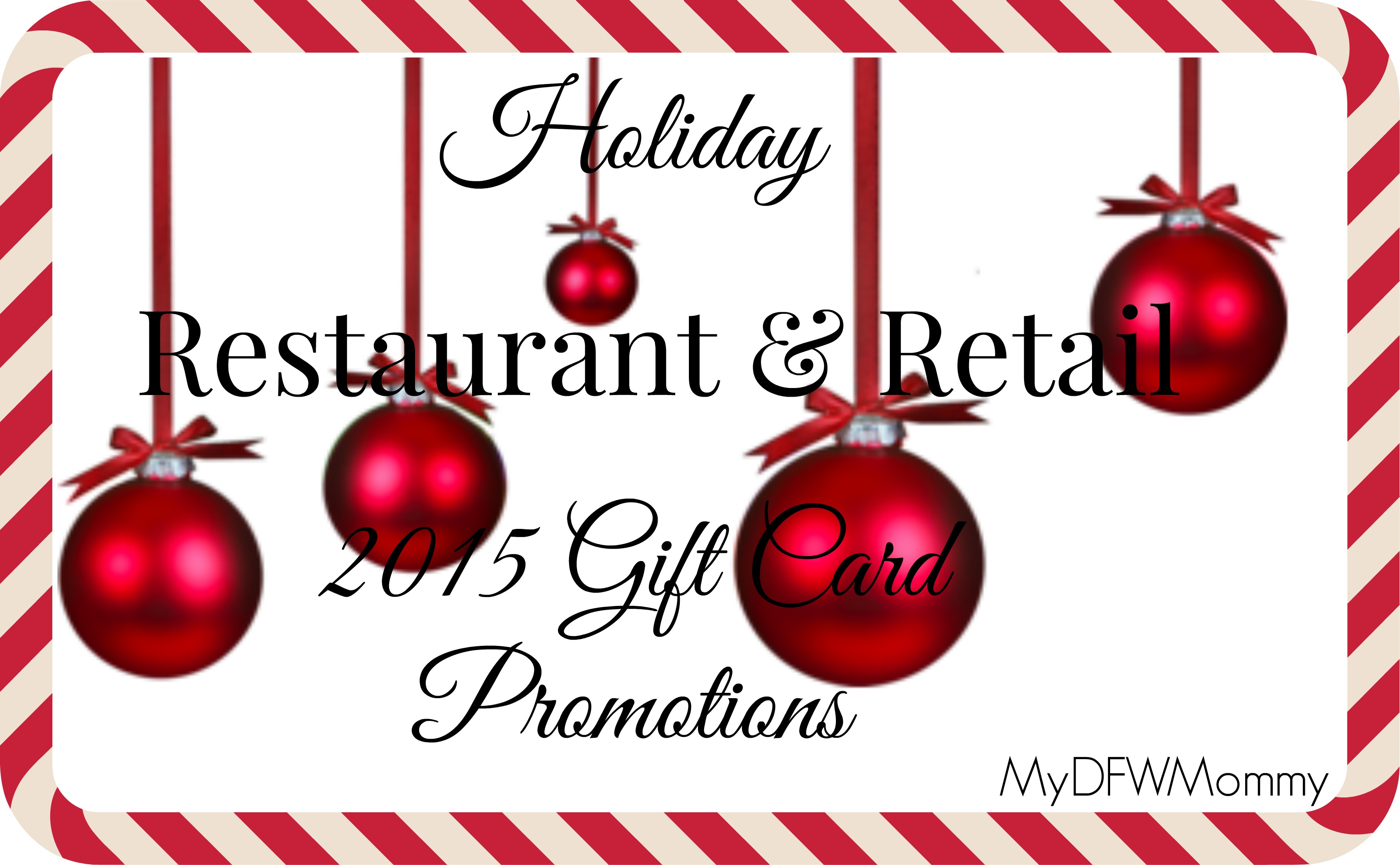 Restaurant & Retail Holiday Gift Card Deals - My Dallas Mommy