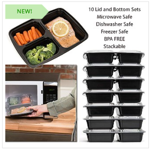 10 pack bento box style lunch containers reusable only my dallas mommy. Black Bedroom Furniture Sets. Home Design Ideas