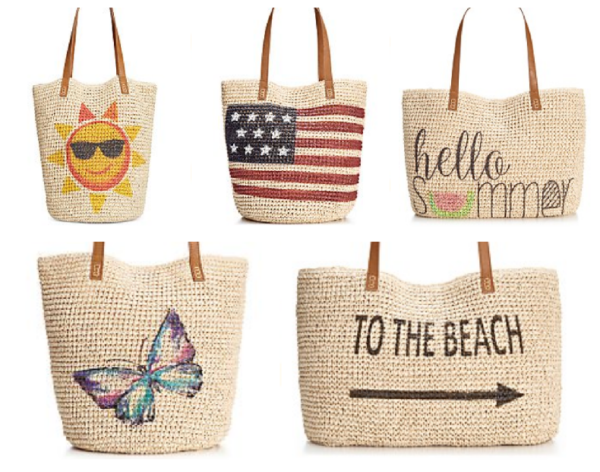 My Sacramento Mommy: Macy's Straw Beach Bags Only $19.99