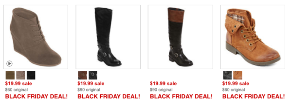 ce8b3ccabe8 JCPenney Black Friday ~ 40 Boots Only  19.99 - My DFW Mommy