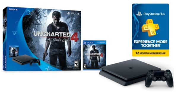 2016 Gamestop Black Friday >> Gamestop: PS4 Slim Uncharted 4 Bundle + 12-Month PlayStation Plus Code Only $249.99 Shipped - My ...