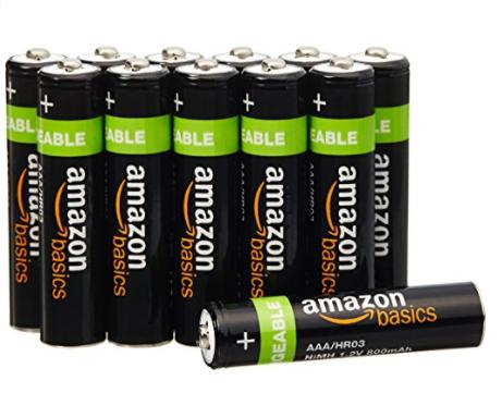Amazon~ AmazonBasics AAA Rechargeable Batteries 12-Pack