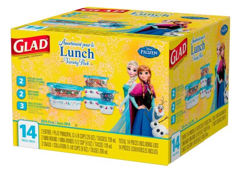 Walmart~ 14-Piece Disney Frozen Glad Lunch Containers Only ...