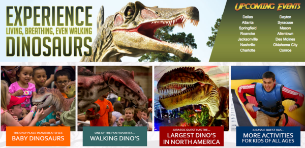 Jurassic quest coupon puyallup