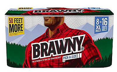 Pack Of 8 Brawny Pick A Size Xl Paper Towel Rolls Only 10