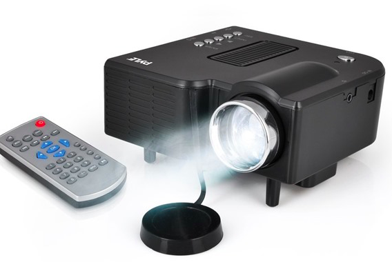 Pyle compact mini led gaming projector only reg for Small powerful projector