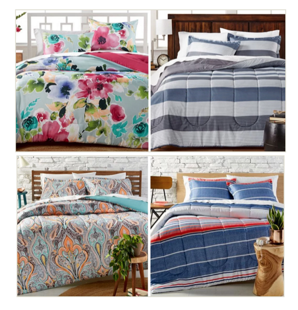 Macy S 3 Piece Reversible Comforter Sets Just 19 99 Reg