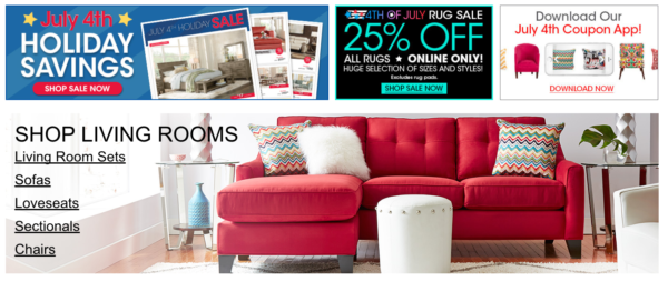 shop rooms to go july 4th sale clearance my dallas mommy. Black Bedroom Furniture Sets. Home Design Ideas