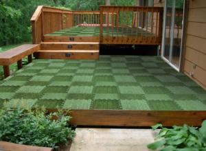 Above edge interlocking grass deck tiles only reg my dallas mommy - Interlocking deck tiles on grass ...