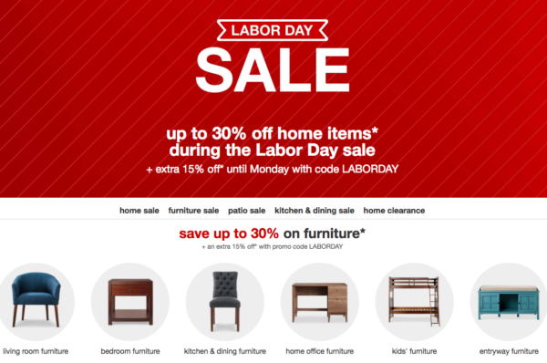 The Target Labor Day Sale is online only and offering 30% plus an extra 15% off select furniture this week, giving shoppers the chance to score some new pieces for their home. This applies to rugs, bedding, chairs, patio items, and MORE! That's not all you can save on.