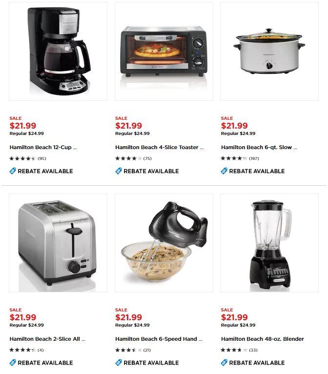 Small Kitchen Appliances On Sale ~ Hamilton beach small kitchen appliances after