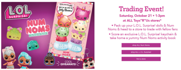 L O L Surprise Doll Num Noms Trading Event At Toys R Us Today