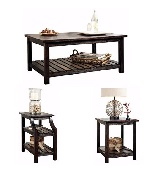 Ashley Furniture Rustic Coffee Table 2 End Tables For 302 Shipped My Dfw Mommy
