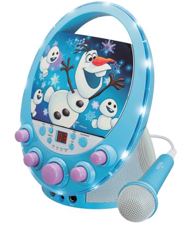 Disney Frozen Flashing Lights Karaoke Machine Just 19 97