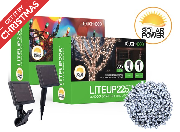 Touch Of ECO LITEUP225 Solar Powered LED String Lights Just USD 19.99 (Reg. USD 29.99) - My Dallas Mommy