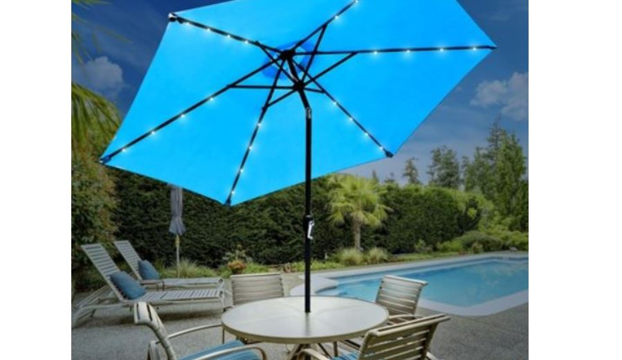 Sorbus Outdoor Patio Umbrella With Solar Charging Led Lights 59 99 Retail 149 99 My Dfw Mommy