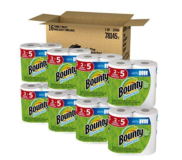 Bounty Paper Towels Cvs: Bounty Quick-Size Paper Towels Family Rolls 16 Count $33