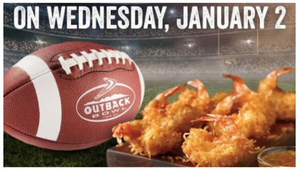 free coconut shrimp appetizer at outback steakhouse with