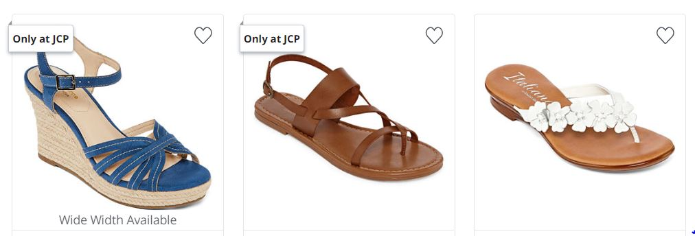 57377421396ae JCPenney ~ Women s Sandals Buy 1 Get 2 FREE - My DFW Mommy